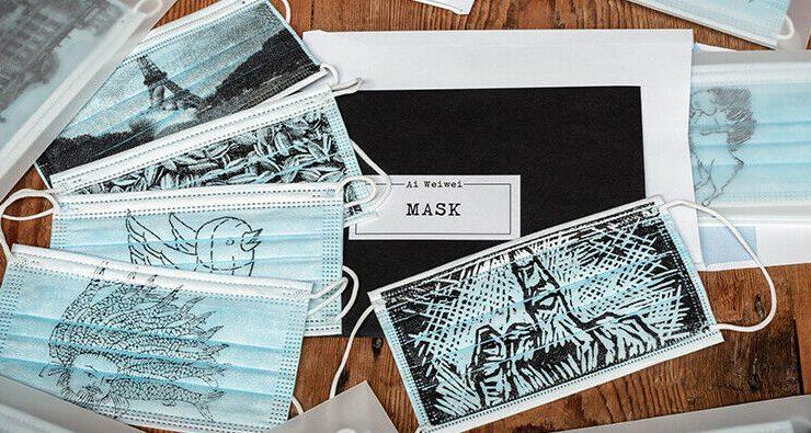 Искусство против вируса: художник Ай Вэйвэй представил авторские защитные маски
