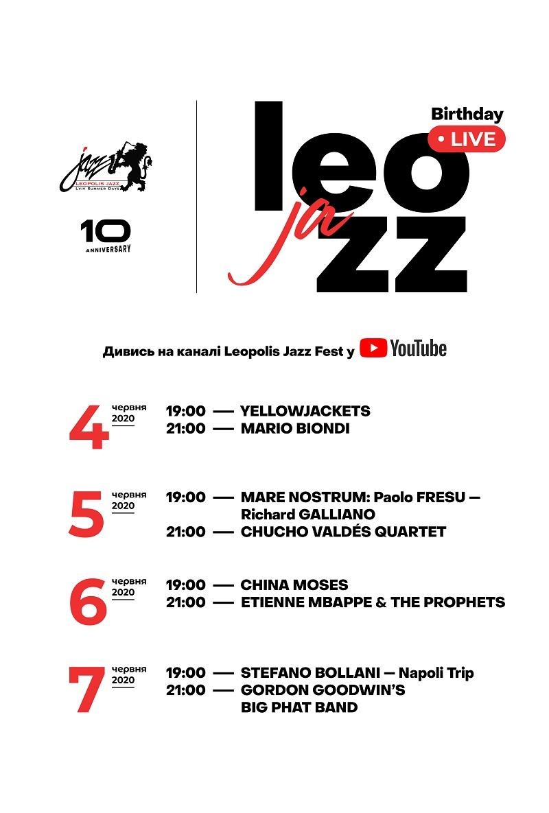 Онлайн-юбилей: Birthday Live в честь 10-летия Leopolis Jazz Fest
