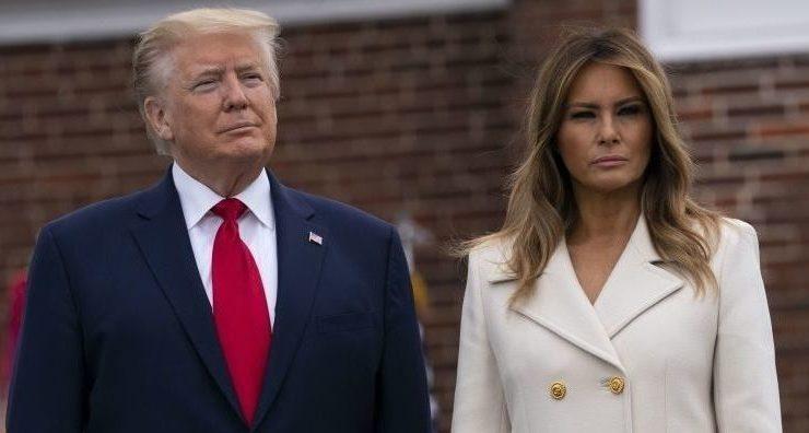 Выход в белом: Мелания Трамп на службе в честь Дня Поминовения