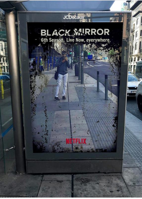 Реклама 6-госезона «Черного зеркала»взбудоражила жителейМадрида