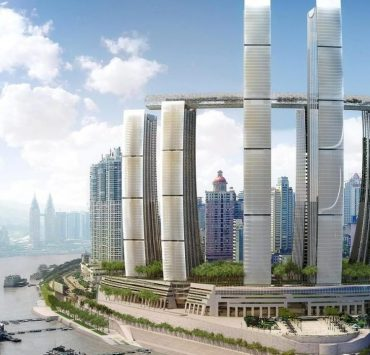 В Китае открыли самый высокий горизонтальный небоскреб в мире