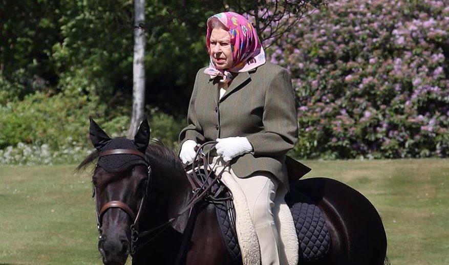 Карантинні розваги: прогулянка королеви Єлизавети II верхи на поні