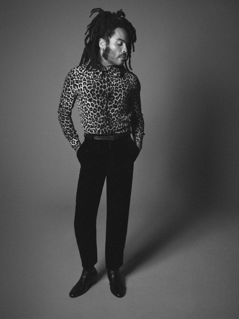 Неотразим: Ленни Кравиц стал новым лицом Saint Laurent