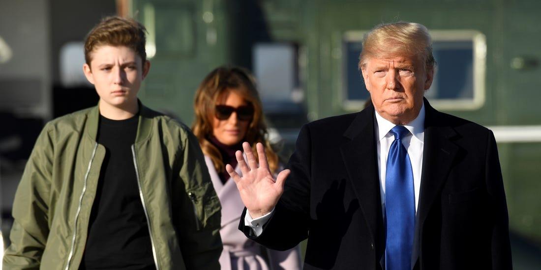 Мелания Трамп заступилась за сына, который стал жертвой шутки о Дональде Трампе