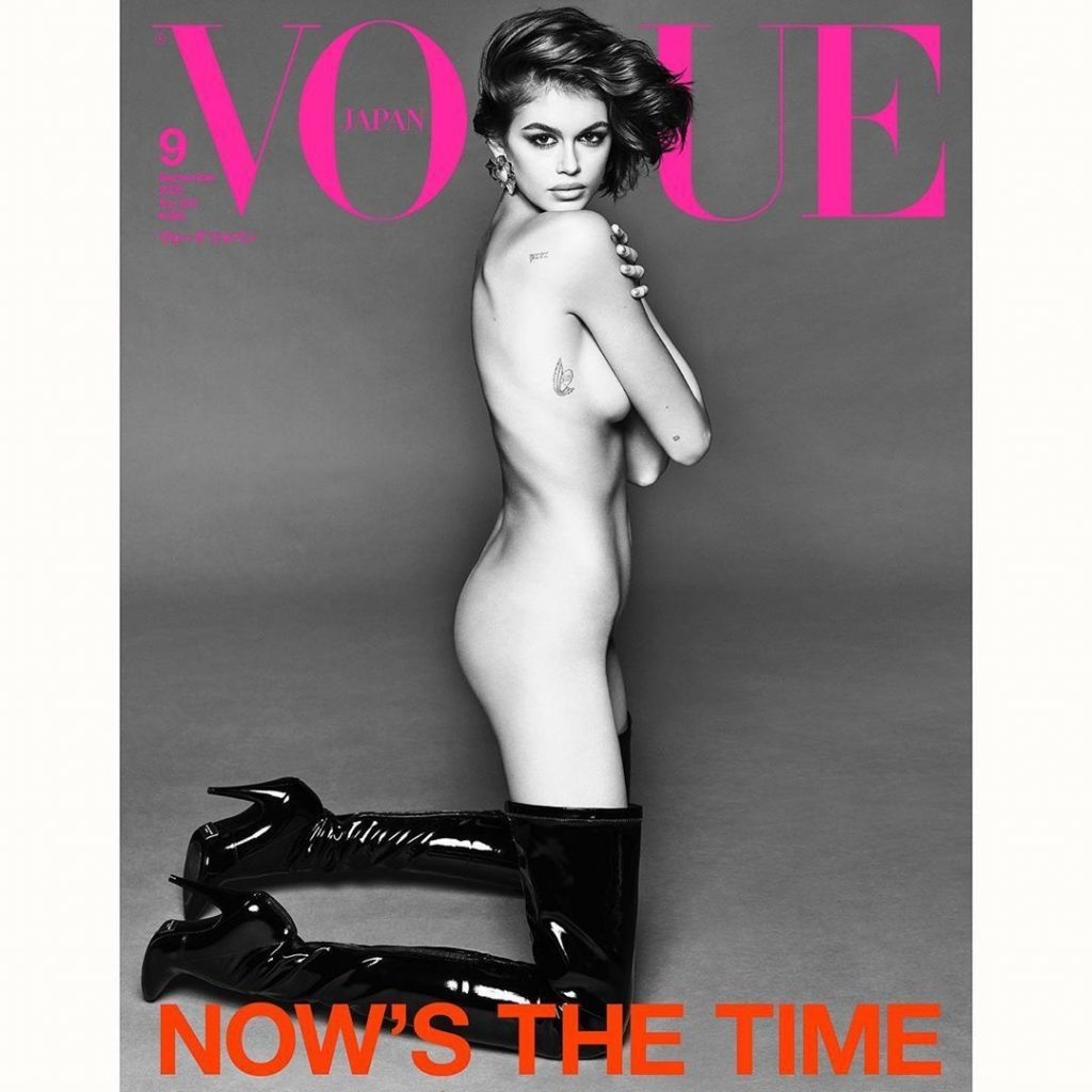 Горячие кадры: обнаженная Кайя Гербер на страницах Vogue Japan