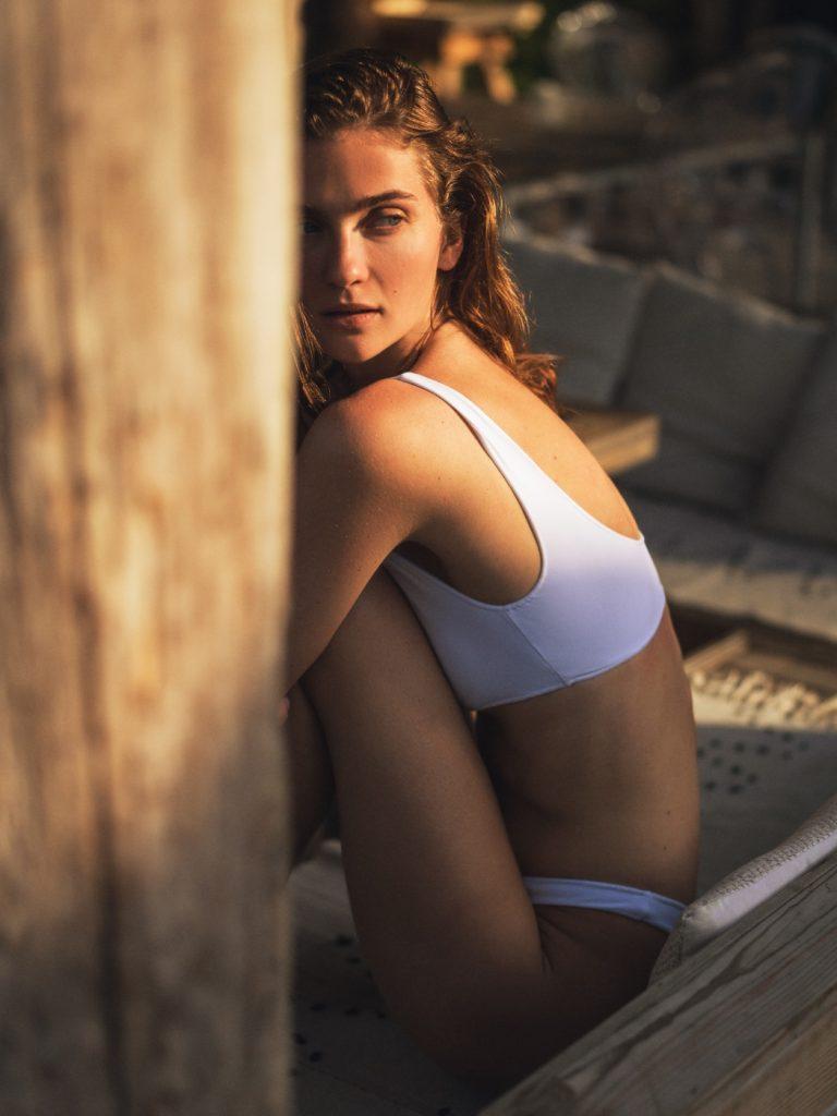 Элла Кандыба в рекламной кампании купальников Bikki by Atelier Handmade