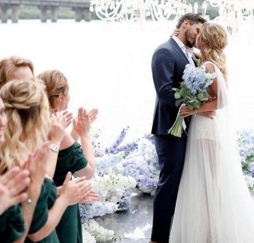 Праздник на берегу Днепра: свадьба Никиты Добрынина и Дарьи Квитковой
