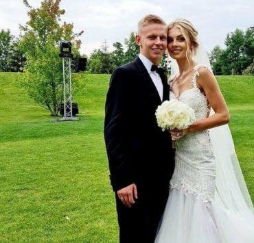 Wedding Day: футболист Александр Зинченко и Влада Седан сыграли свадьбу под Киевом