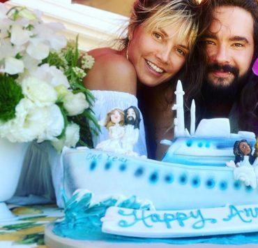 Архивные кадры, торт и признания в любви: Хайди Клум и Том Каулитц отметили годовщину свадьбы