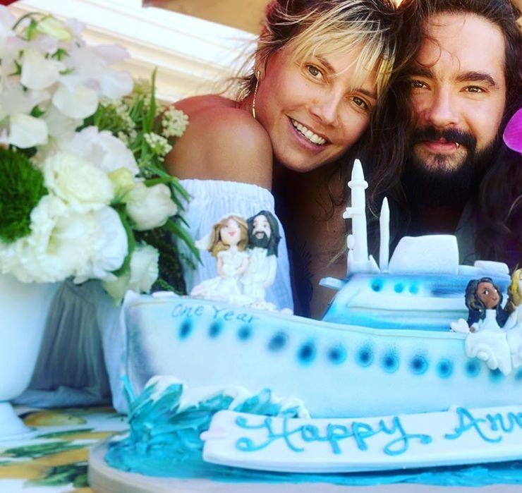 Архівні кадри, торт і освідчення в любові: Гайді Клум і Том Кауліц відзначили річницю весілля