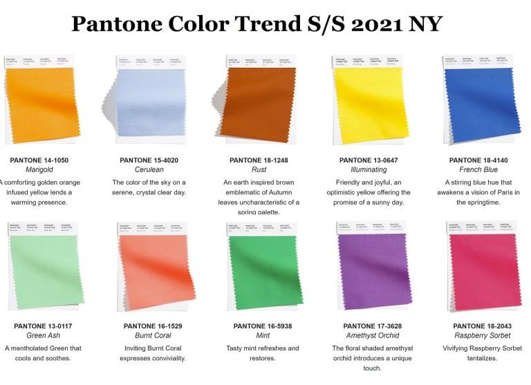 Pantone назвав 10 найбільш модних кольорів сезону весна-літо 2021