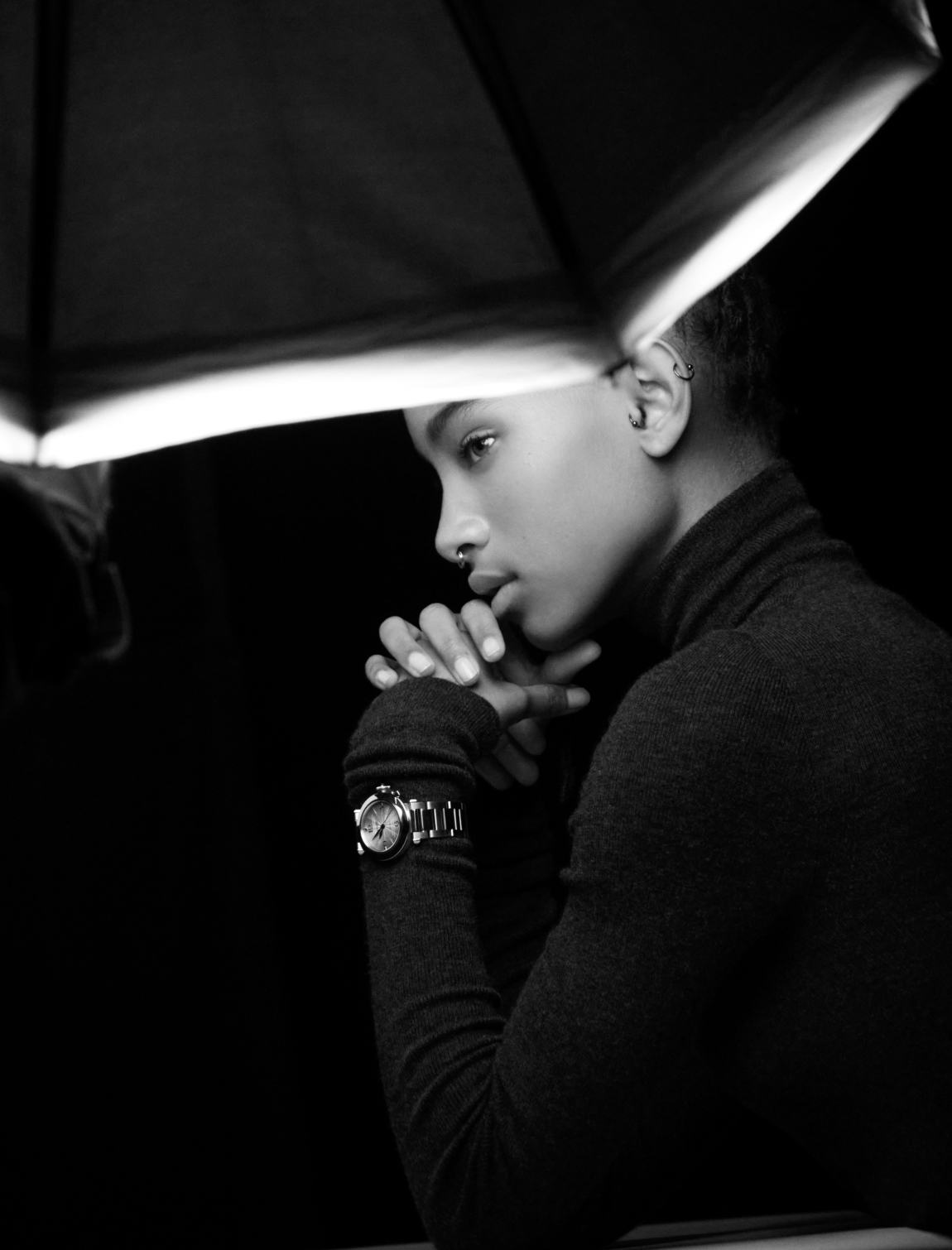 Рами Малек и Уиллоу Смит в кампейне новой модели легендарных часов Cartier de Pasha