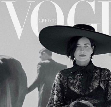 Носії: Шерон Стоун на обкладинці Vogue в обручі-банті Ruslan Baginskiy