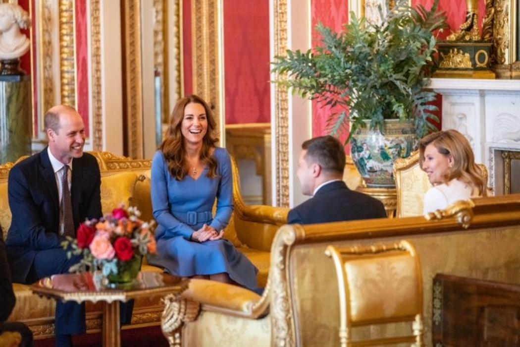 Владимир и Елена Зеленские встретились с Кейт Миддлтон и принцем Уильямом в Букингемском дворце