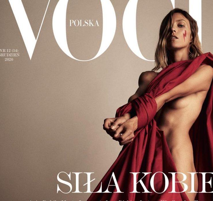 "Выражая протест: обнаженная Аня Рубик на обложке польского Vogue<span class=""badge-status"" style=""background:#ff0f46"">Exclusive</span>&nbsp;"