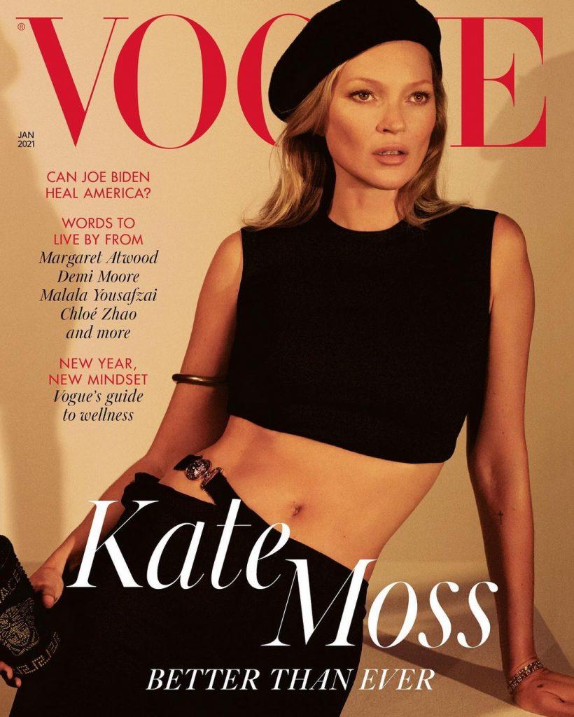 Через 28 років після дебюту: Кейт Мосс прикрасила обкладинку британського Vogue