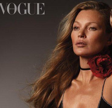 Спустя 28 лет после дебюта: Кейт Мосс украсила обложку британского Vogue