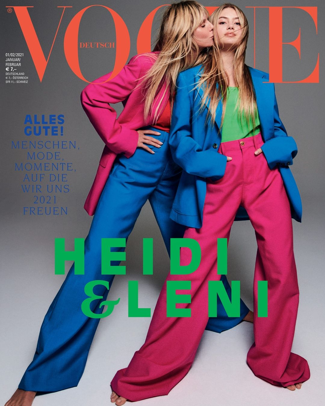 Дочки-матери: Хайди и Хелен Клум украсили обложку немецкого Vogue