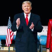 Дональд и Мелания Трамп на церемонии помилования индейки перед Днем благодарения