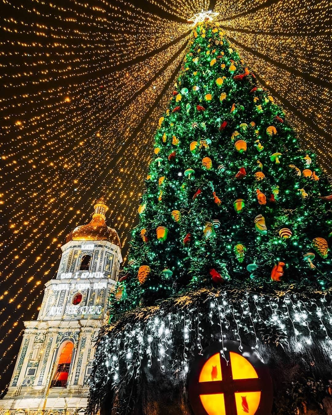 Елки, ледовые катки и гирлянды: как Киев украсили к Новому году и Рождеству