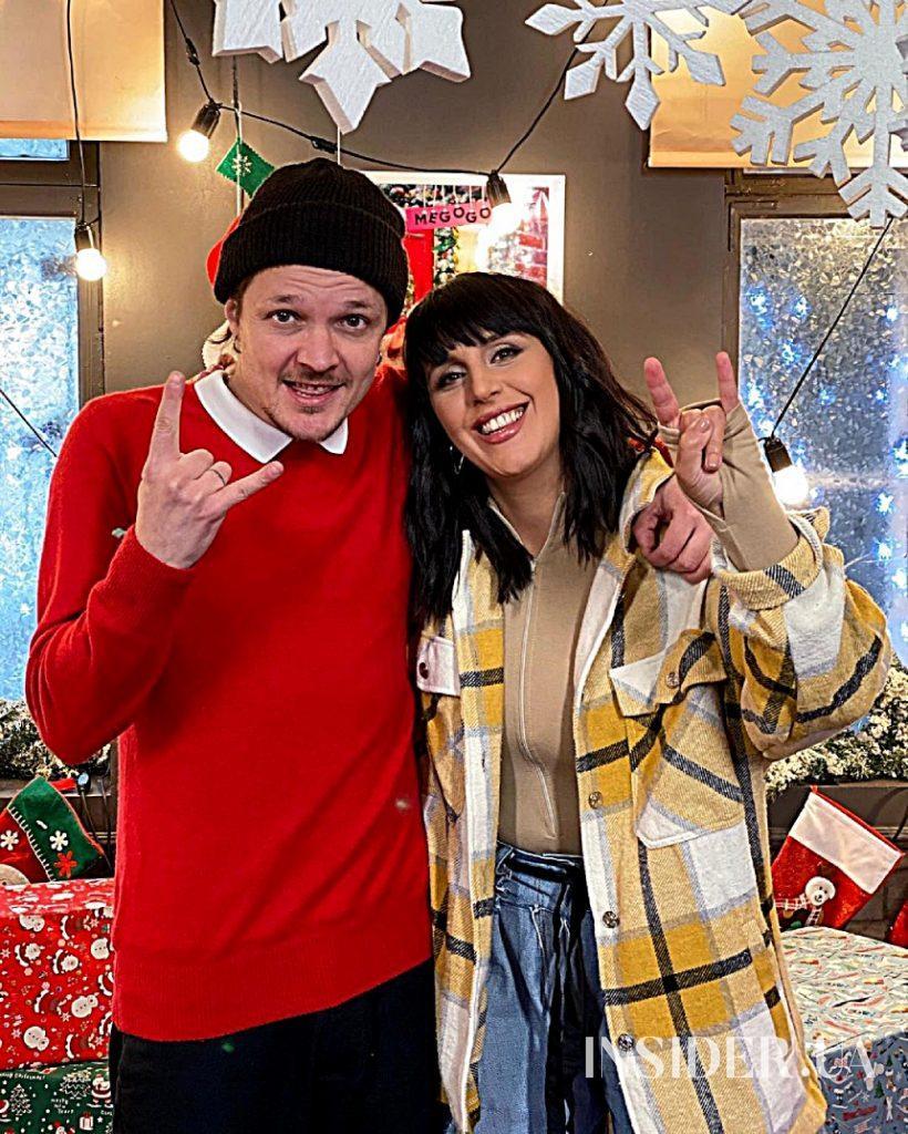 Джамала, Андрій Хливнюк і Женя Галич на зйомках «Сніжного концерту»