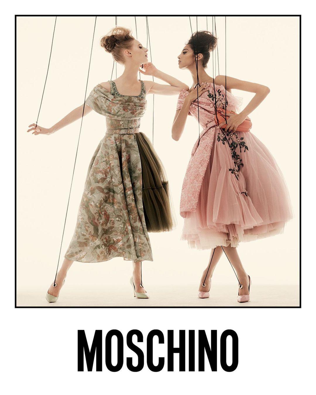 Ирина Шейк и Белла Хадид снялись в новой рекламной кампании Moschino SS'21