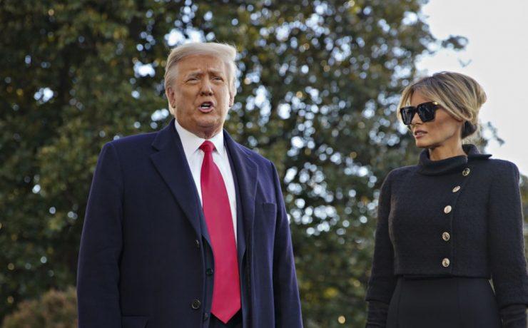 Кадр дня: Дональд і Меланія Трамп залишили Білий дім