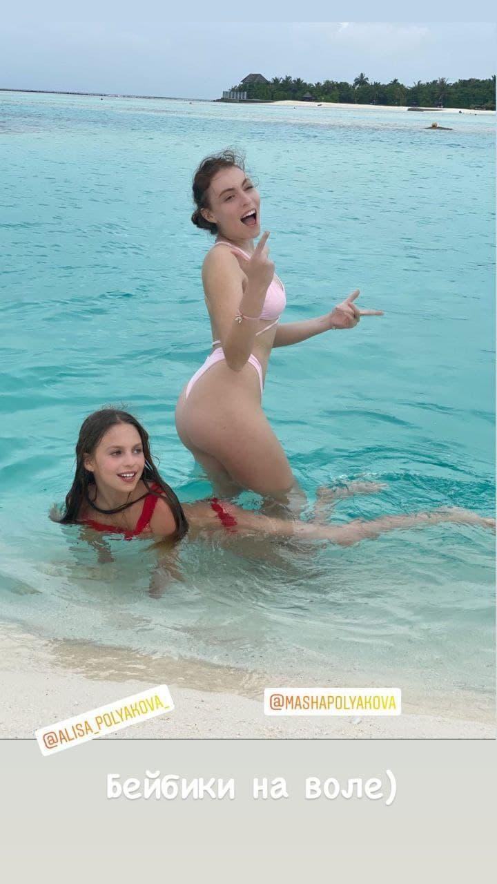 SPA с дочками и дождливые тропики: зимние каникулы Оли Поляковой на Мальдивах
