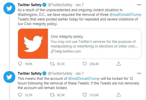 Instagram и Facebook заблокировали Дональда Трампа