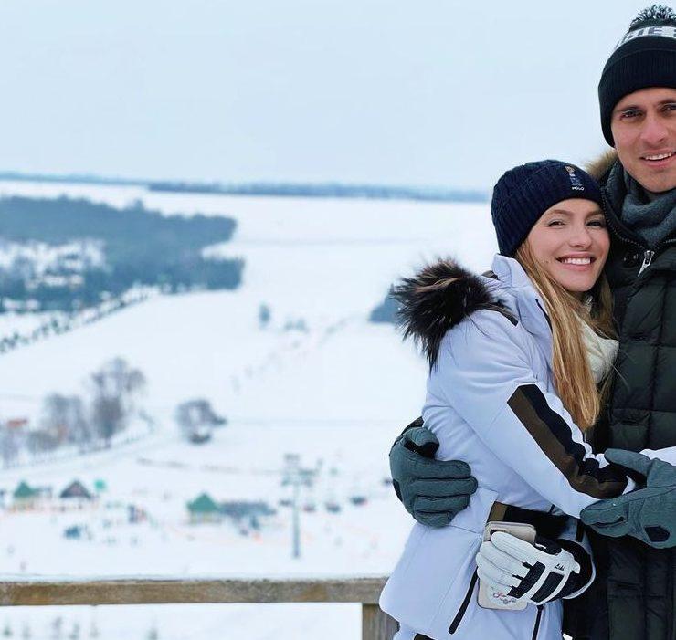 Сімейний вікенд: Єлизавета Юрушева та Олександр Скічко відпочили на українському гірськолижному курорті