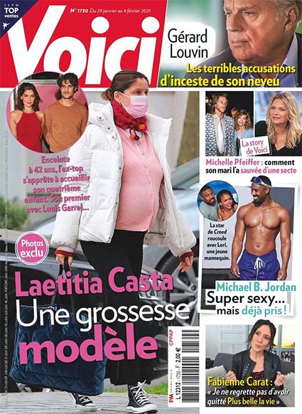42-летняя Летиция Каста в четвёртый раз станет мамой