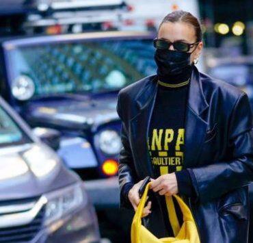 Носители: Ирина Шейк прогулялась по Нью-Йорку в кожаном тренче GASANOVA