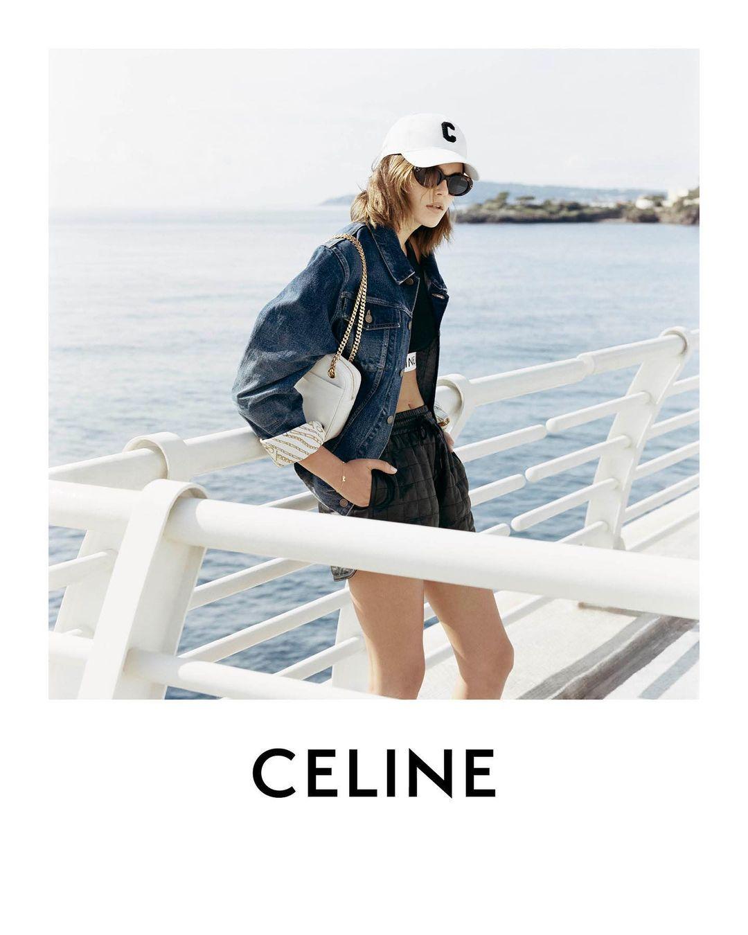 На фоне пейзажей Монако: Кайя Гербер снялась в новом кампейне Celine