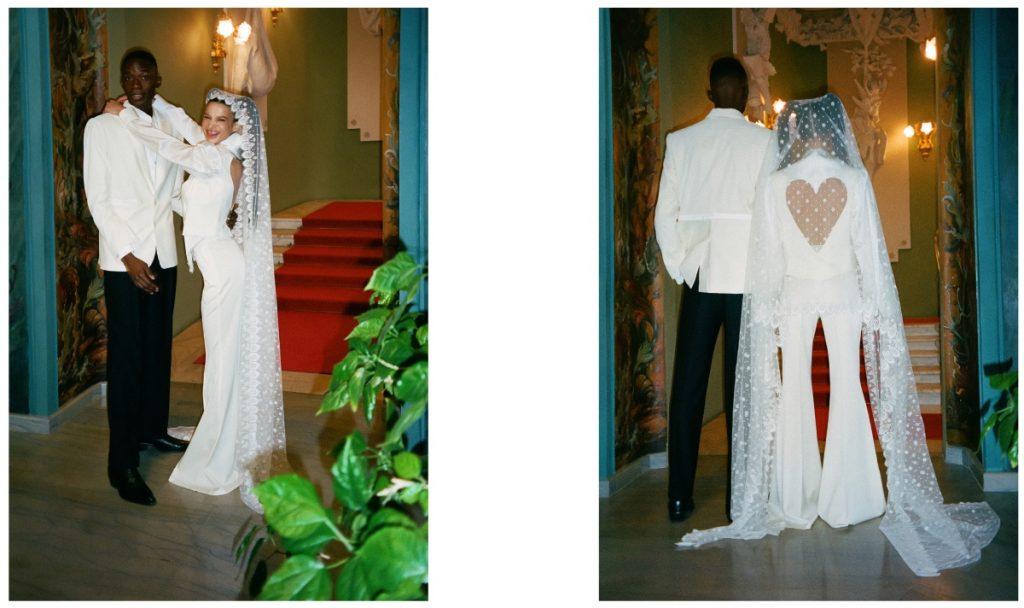 Наталья Гоций и Layah в кампейне дебютной свадебной коллекции FROLOV