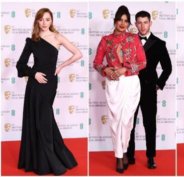 Приянка Чопра, Рене Зеллвегер и Фиби Дайневор на красной дорожке BAFTA-2021
