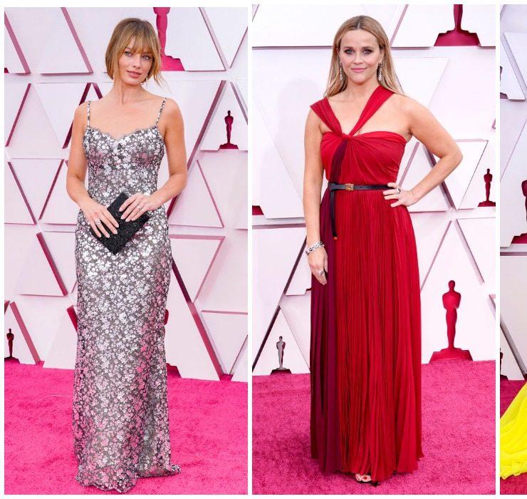 Різ Візерспун, Марго Роббі та Зендея на червоному хіднику «Оскар – 2021»