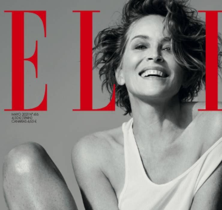 Как же хороша! 63-летняя Шэрон Стоун украсила обложку испанского Elle