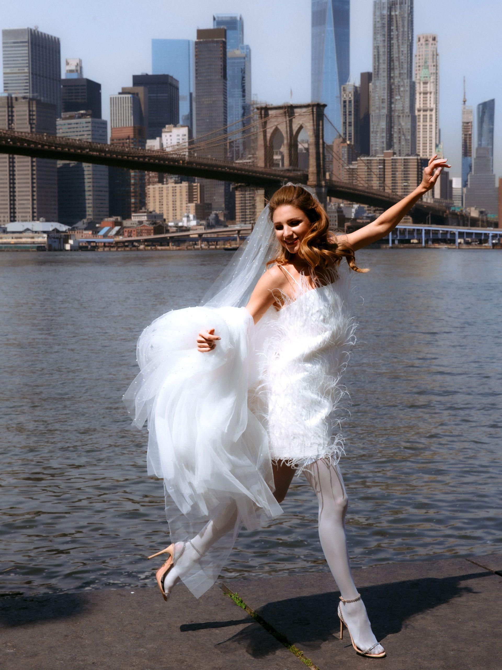 Кадры из Нью-Йорка: свадебная коллекция Wona & the Coat by Katya Silchenko