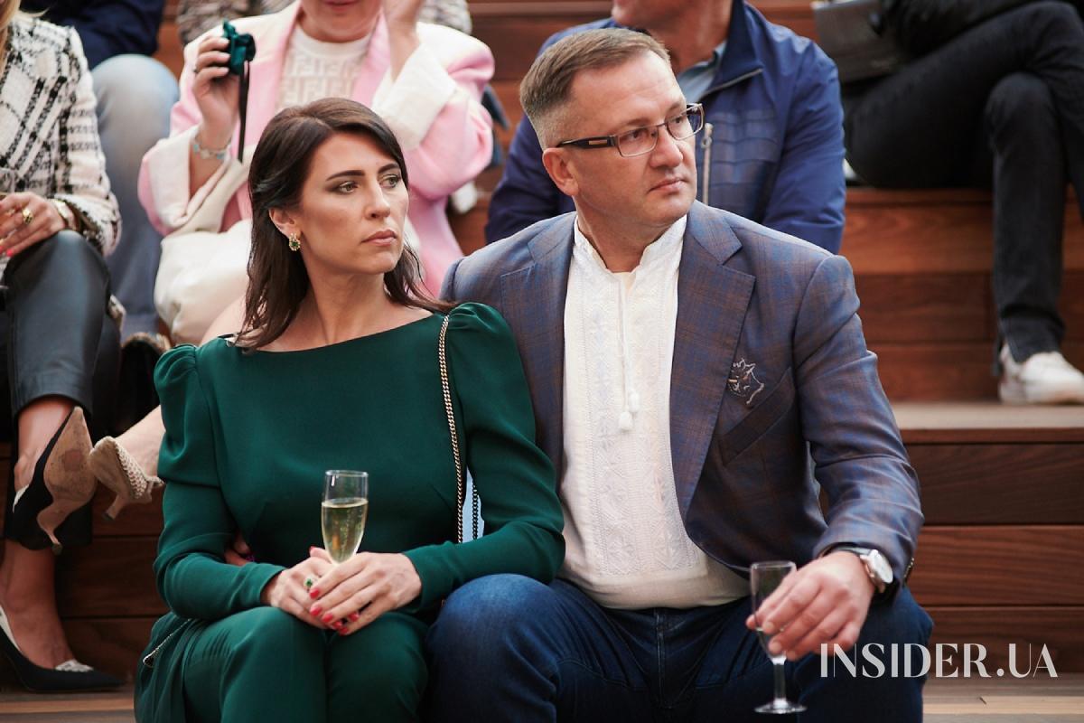 Ольга Фреймут и Катя Осадчая на презентации новой коллекции Оксаны Караванской