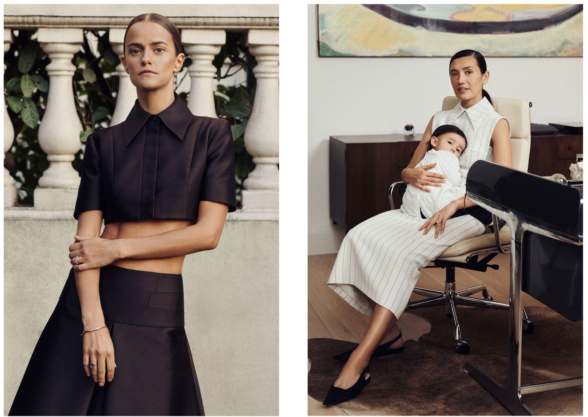 Женская сила и материнство в новой коллекции Emilia Wickstead