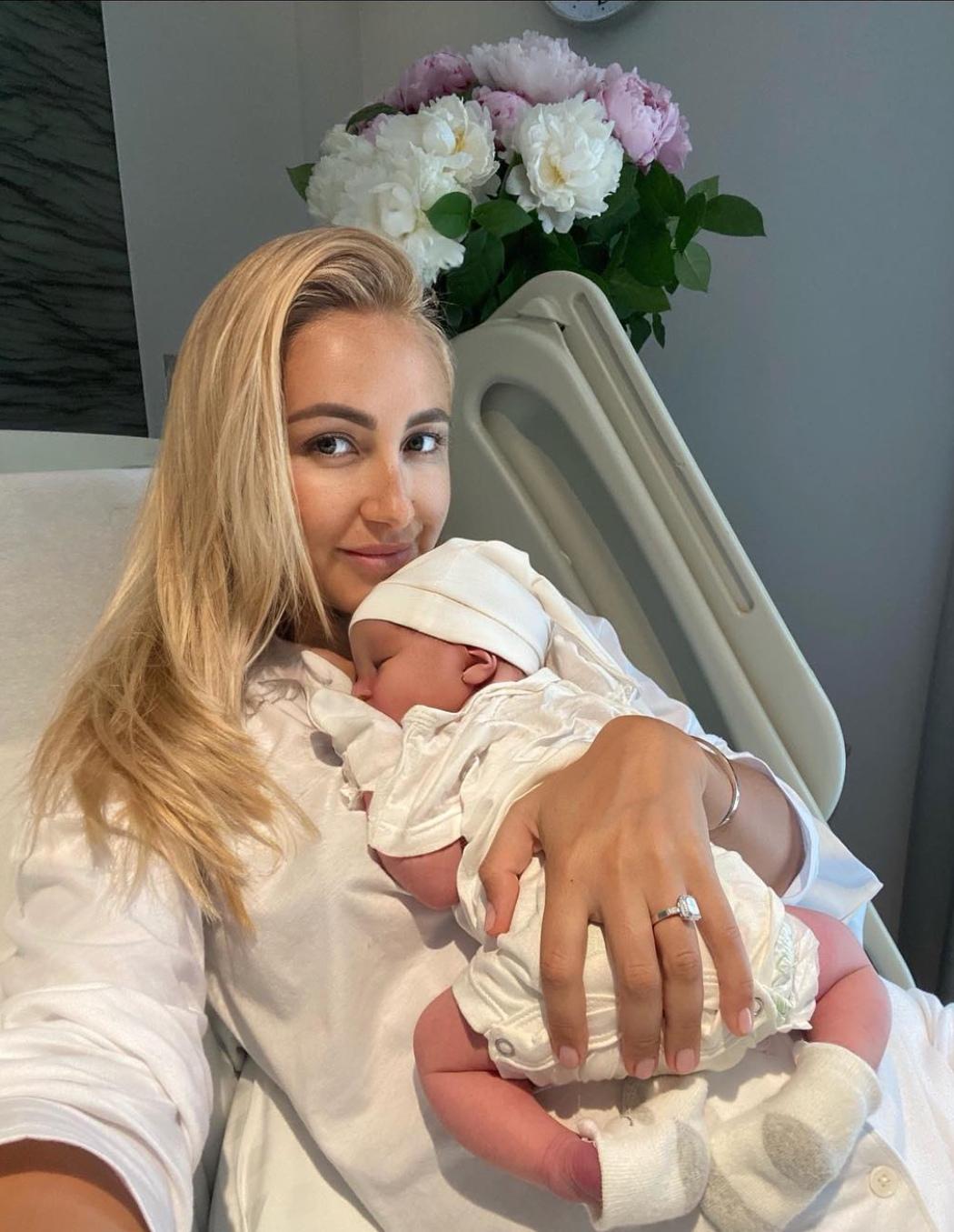 Анастасия Ершова родила первенца