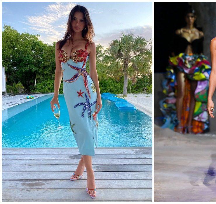 Битва нарядов: Ирина Шейк и Эмили Ратаковски в Versace
