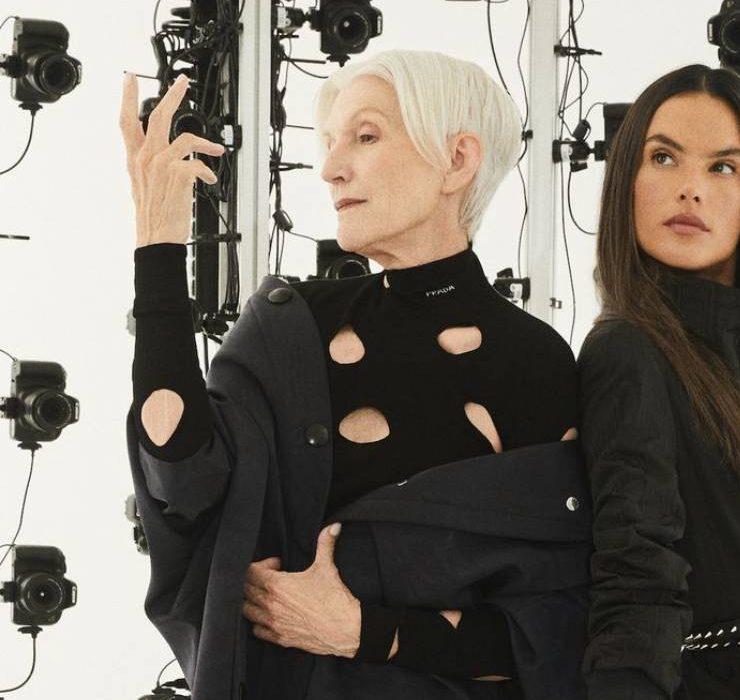 Мэй Маск и Алессандра Амбросио в стильной съёмке для глянца