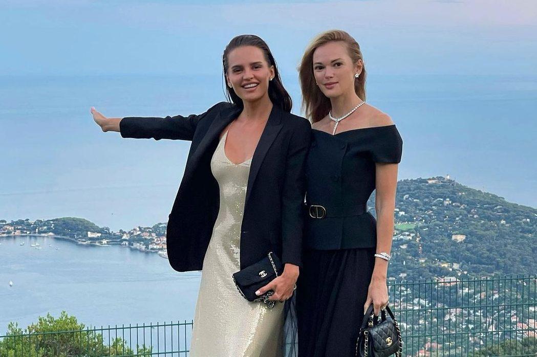 Анна Андрес и Анастасия Масюткина на ужине BVLGARI во Франции