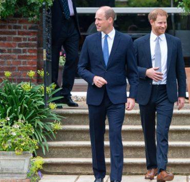 Долгожданная встреча: принцы Гарри и Уильям на открытии памятника принцессе Диане
