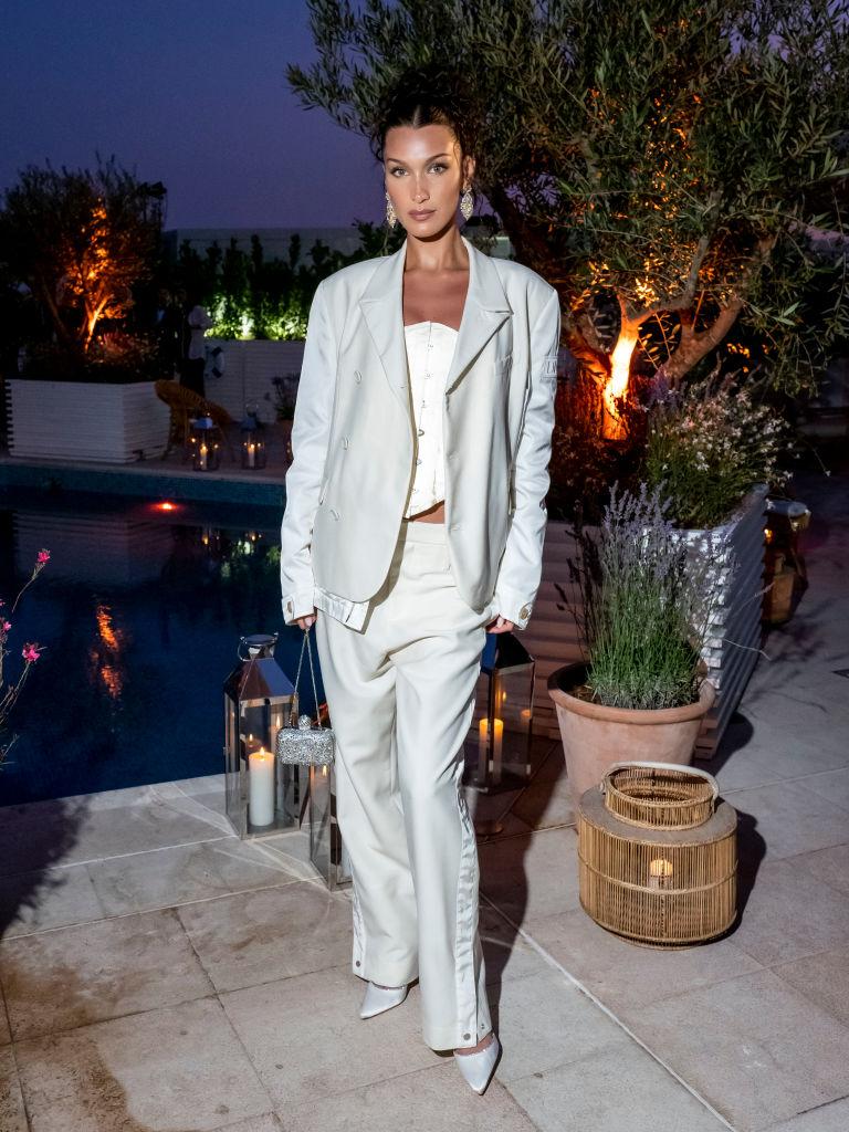 Белла Хадид и Карла Бруни на ужине Dior в Каннах