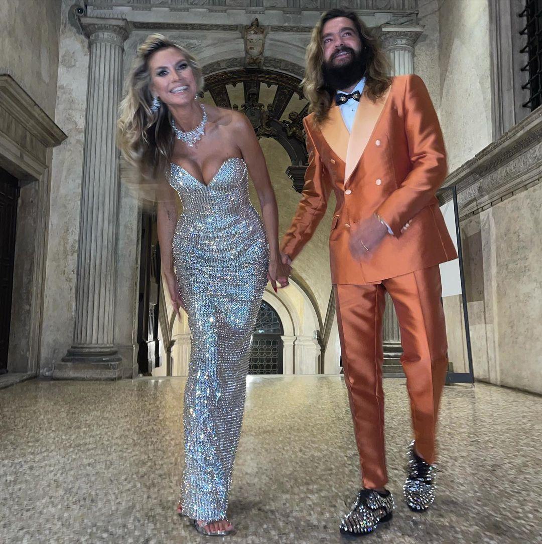 Хайди Клум и Дженнифер Лопес на шоу Dolce&Gabbana в Венеции