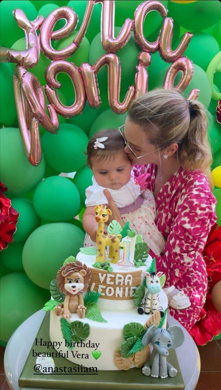 Green party: Анастасия Масюткина отметила первый день рождения дочери