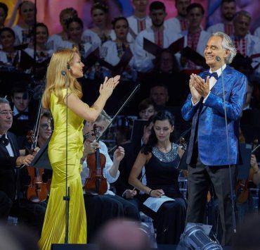 Тина Кароль и Джамала спели с Андреа Бочелли