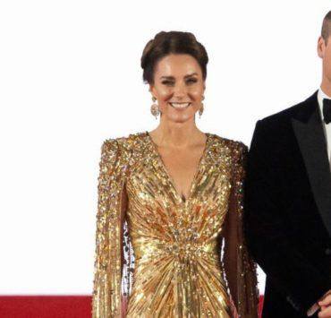 Кейт Миддлтон и принц Уильям посетили мировую премьеру фильма «007: Не время умирать»